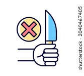 no sharp objects rgb color...   Shutterstock .eps vector #2040467405