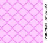 pink decorative moroccan... | Shutterstock .eps vector #2040520355