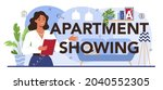 apartment showing typographic...   Shutterstock .eps vector #2040552305