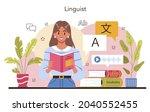 translator concept. linguist... | Shutterstock .eps vector #2040552455