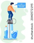 buy water filter for cleaning... | Shutterstock .eps vector #2040572195