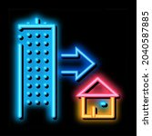 skyscraper and house neon light ...   Shutterstock .eps vector #2040587885