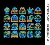 geography education neon light... | Shutterstock .eps vector #2040588158