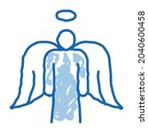 holy angel with wings sketch...   Shutterstock .eps vector #2040600458