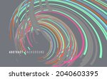 abstract graphics composed of... | Shutterstock .eps vector #2040603395