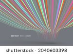 abstract graphics composed of... | Shutterstock .eps vector #2040603398