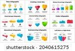 multipurpose infographics pack. ... | Shutterstock .eps vector #2040615275