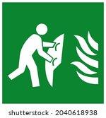 fire blanket symbol sign ...   Shutterstock .eps vector #2040618938