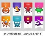 happy halloween design...   Shutterstock .eps vector #2040657845