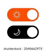 day night mode switch ui button....