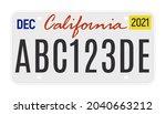 california license vector plate ...   Shutterstock .eps vector #2040663212