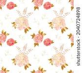 cream pink millefleurs seamless ...   Shutterstock .eps vector #2040724898