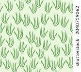 cute green seaweeds seamless... | Shutterstock .eps vector #2040759062
