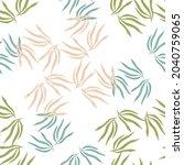 random tropical leaves semless... | Shutterstock .eps vector #2040759065