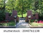 Photograph Of Brick Pillars...