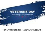 veteran's day poster.honoring... | Shutterstock .eps vector #2040793805