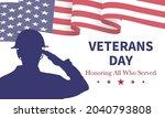 veteran's day poster.honoring... | Shutterstock .eps vector #2040793808