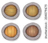 comic rounded viking shields ...