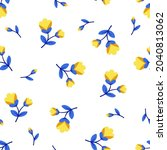 seamless pattern with cute...   Shutterstock .eps vector #2040813062