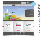 vector website template for... | Shutterstock .eps vector #204085036
