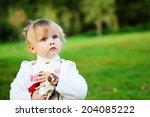 portrait of adorable toddler... | Shutterstock . vector #204085222