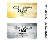 voucher  gift certificate ... | Shutterstock .eps vector #204085366
