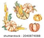 Pumpkin Patch Watercolor Set....