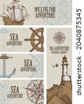 set of vector banners on the... | Shutterstock .eps vector #2040875345