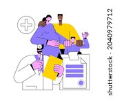 family doctor abstract concept... | Shutterstock .eps vector #2040979712