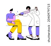 vaccination of adults abstract... | Shutterstock .eps vector #2040979715