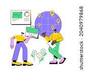 international business abstract ... | Shutterstock .eps vector #2040979868