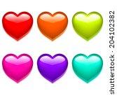 glass heart | Shutterstock .eps vector #204102382