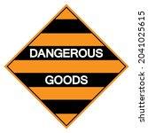 dangerous goods symbol sign ...   Shutterstock .eps vector #2041025615