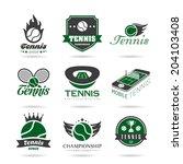 tennis icon set   2 . | Shutterstock .eps vector #204103408