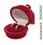 wedding rings in a box | Shutterstock . vector #20410420