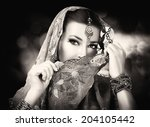 Beautiful Hindu Woman With...