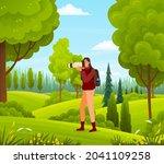 photographer woman taking photo ... | Shutterstock .eps vector #2041109258