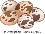 eggs chicken poultry food...   Shutterstock .eps vector #2041127882