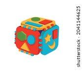plastic toy logic cube of...   Shutterstock .eps vector #2041144625