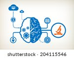 microscope and abstract human... | Shutterstock .eps vector #204115546