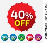 40  off sale discount tag ... | Shutterstock .eps vector #2041175558