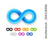 colorful infinity symbol set... | Shutterstock .eps vector #204118306
