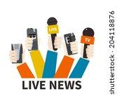 journalism concept vector   set ...   Shutterstock .eps vector #204118876