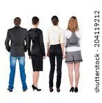 back view of  business team...   Shutterstock . vector #204119212