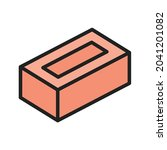 brick icon vector image. can...   Shutterstock .eps vector #2041201082