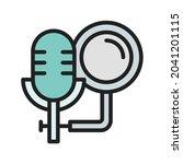 studio microphone icon vector...   Shutterstock .eps vector #2041201115