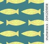 fish seamless pattern design... | Shutterstock .eps vector #2041205858