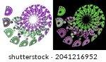 Green And Magenta Spirals Of...
