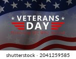 veterans day background with... | Shutterstock .eps vector #2041259585