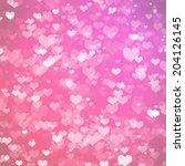 hearts texture background | Shutterstock . vector #204126145